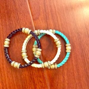 3 banana republic elastic bracelets